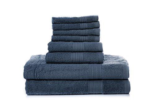 Superior 100% Cotton 8 Piece Bath Towel Set By Blissful Livi
