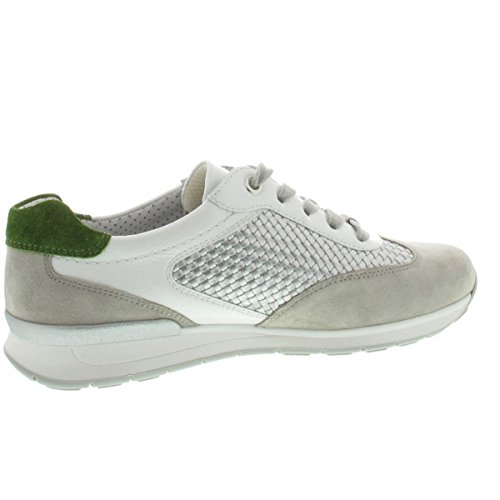 Depósitos Mujer Sneaker Rana H Helsinki Ara Plata Blanco Los 12 Ancho Llevando Guijarros 34533 qASzB1