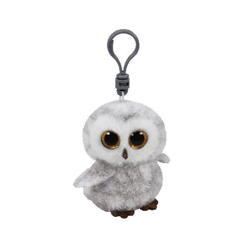 Ty Beanie Boos Owlette the White/Gray Owl - Clip, Grey/White, 2 inches