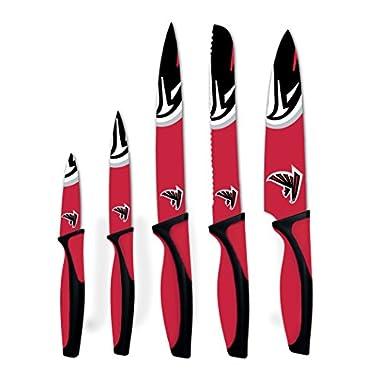 NFL Atlanta Falcons Kitchen Knives (Set of 5), Red