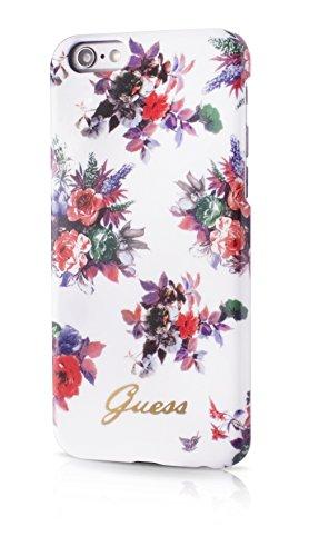 Guess GUHCP6FPRWH Blossom Collection harte Schutzhülle für Apple iPhone 6/6S  11,9 cm (4,7 Zoll) weiß