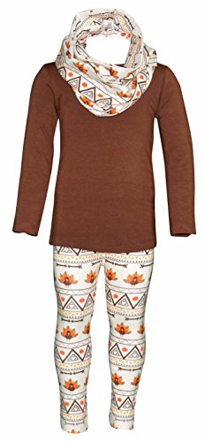 Unique Baby Girls 3 Piece Thanksgiving Tribal Turkey Legging Set (5) by Unique Baby (Image #7)
