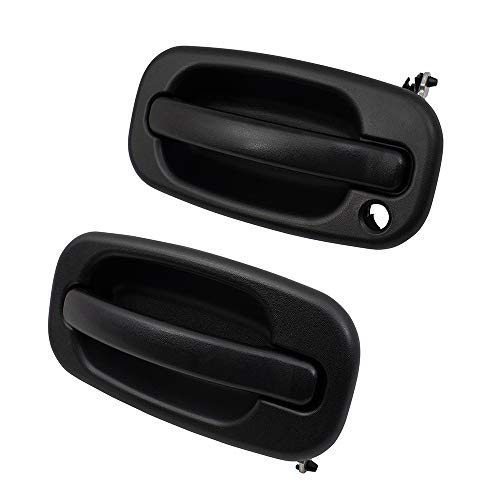 Handle Door Pickup Exterior - Pair Set Front Outside Exterior Door Handles Replacement for 99-07 GM SUV Pickup Truck 19356468 15182406