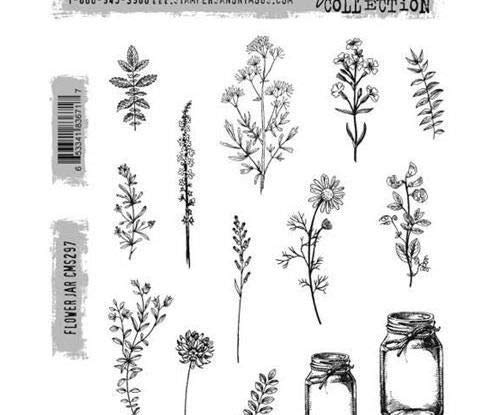 Stampers Anonymous Tim Holtz - Flowers (14ks), Ranger, Rubber Cling, Stamps, Scrapbooking Paper