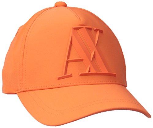 Armani Exchange Men's 3d Rubber Ax Tonal Logo Baseball Hat, Flame, One Size
