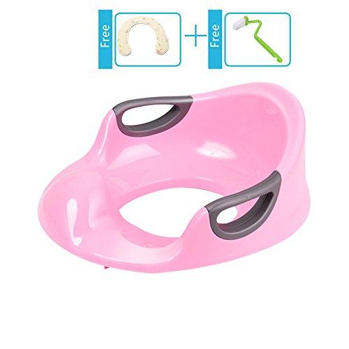KICCOLY Soft Grip Trainer Seat,Sturdy Potty Training Seats (Kitty Pink) (Ninja Potty Seat)
