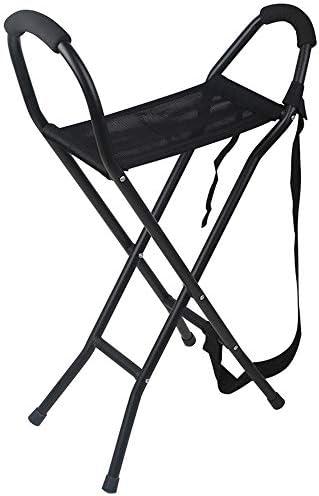 折りたたみ杖椅子、超軽量のポータブルアルミ合金屋外滑り止め高齢者ウォーキングフレーム、身体の不自由な人運動障害のある人に適して