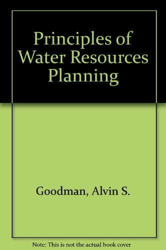 Principles of Water Resources Planning