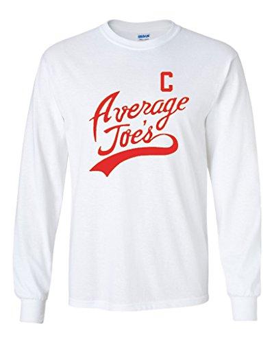 (Long Sleeve Adult T-Shirt Average Joe's Movie Costume Dodge Ball Halloween DT (Small,)