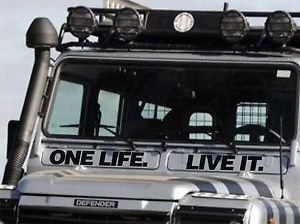 One Life Live It Defender 11090 Vent Decal