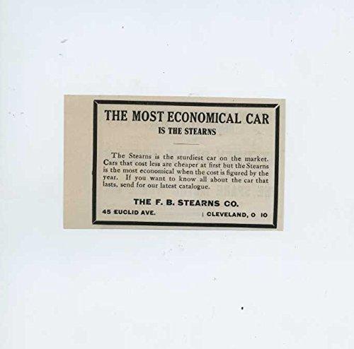 1910 Stearns Motor Car Cleveland OH Automobile Magazine Ad Bosch (Bosch Magneto)