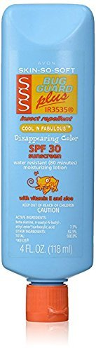 Avon SSS SPF 30 Bug Guard Cool N Fabulous 4 ounce Lotion