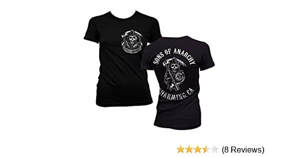Sons of Anarchy Officially Licensed Merchandise SOA Full ca Backprint Girly T-Shirt