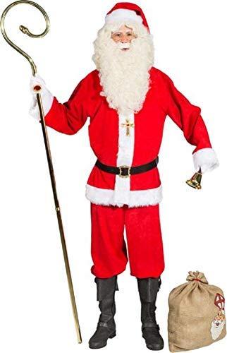 Fancy Me 9-teiliges Luxus-Weihnachtsmannkostüm für Herren, mit Bartperücke, Brille und Weihnachtsmann B07J6BFVX9 Kostüme für Erwachsene Ausgezeichnet       Eine Große Vielfalt An Modelle 2019 Neue