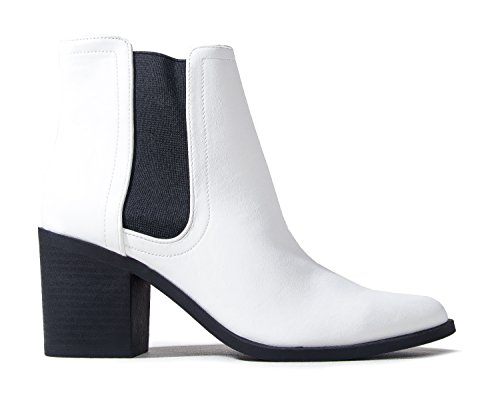 J. Adams Andi Chelsea Boot - Casual High Heel Pointed Toe Slip On Ankle Bootie ()