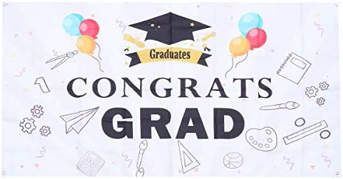 ABOOFAN graduatie 1PC Graduation Party Poster Festival Graduation Avonden Decor Grad Party Decoratieve Banners Graduation Achtergronddoek voor Party Decor Poster Style 1