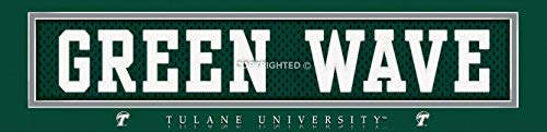 Prints Charming College Nameplate Slogan Tulane Green Wave Unframed Poster 22x6 Inches