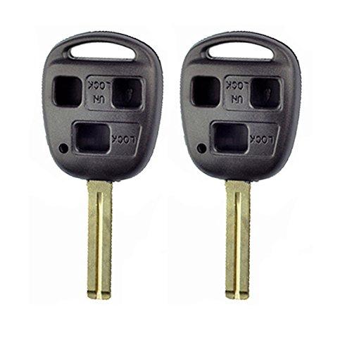 2pcs 3 Buttons Remote Key Shell 2002 2003 04 For Lexus Es300 Es 330 No Chips Inside CLBT/C/245/2002 37mm Short Blade ()