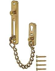 304 Stainless Steel cast Steel Door Safety Chain Protective Cover, Heavy Door Lock, Anti-Theft Door Chain (Gold)