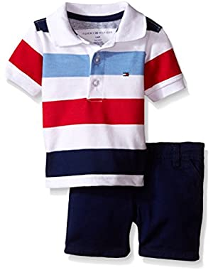 Tommy Hilfiger Baby Boys' Pique Polo Shirt and Twill Shorts