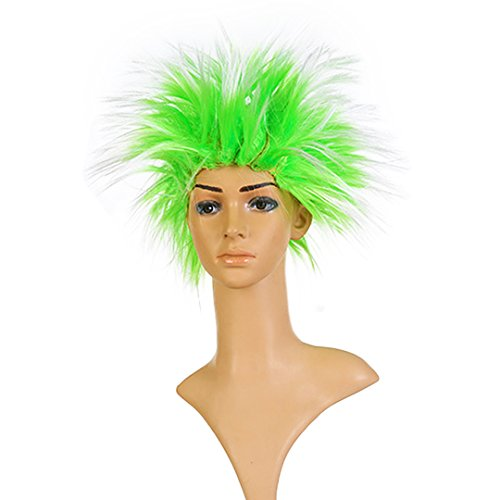 (Multifit Unisex Funky Spiky Wigs Crazy Halloween Costumes Cosplay Punk Wig)