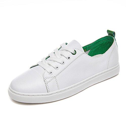 Zapatos planos de las mujeres/Versión coreana de cordón de zapatos/zapatos casuales C
