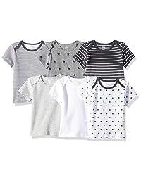 Amazon Essentials Baby 6-Pack Lap-Shoulder Tee