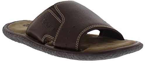 Khombu Mens Memory Foam Slide Sandal, Brown, Large, 11-12 M US in USA