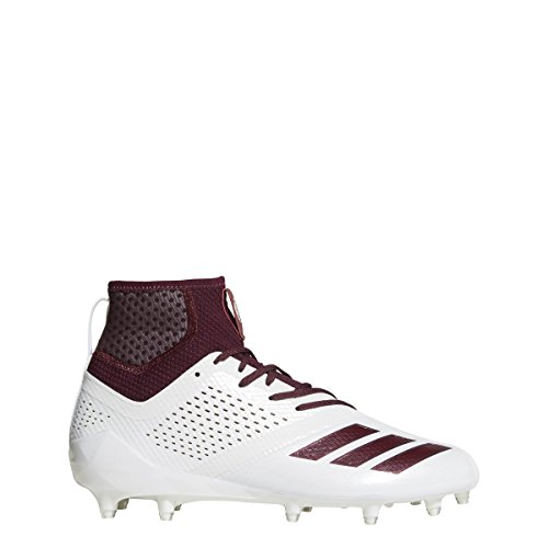 adidas Adizero 5Star 7.0 Mid Cleat Men's Football 7.5 White-Maroon
