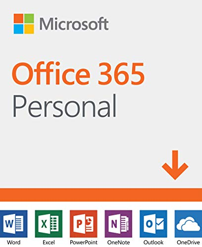 Software : Microsoft Office 365 Personal | 12-month subscription, 1 person, PC/Mac Download