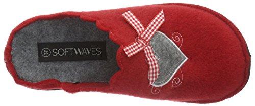 Softwaves Hausschuh - Zapatilla de estar por casa Mujer Rojo - Rot (500 Red)