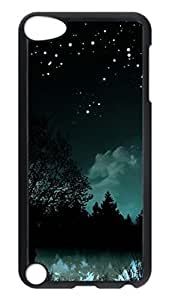 Brian114 Case, iPod Touch 5 Case, iPod Touch 5th Case Cover, Forest At Night Retro Protective Hard PC Back Case for iPod Touch 5 ( Black )