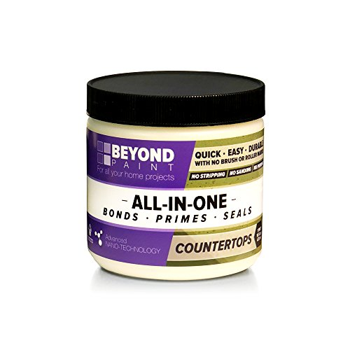 Top Bone - Beyond Paint Counter Top Paint - Pint - No stripping No Sanding No Priming, Bone
