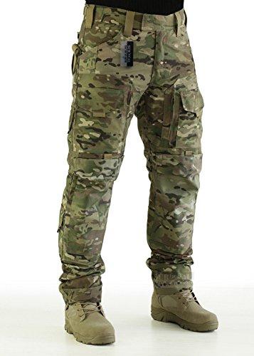 (ZAPT Tactical Molle Ripstop Combat Trousers Army Multicam/A-TACS LE Camo Pants for Men (Multicam Camo, M))