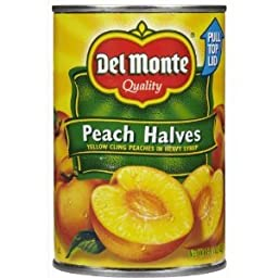 Del Monte Peach Halves in Heavy Syrup 15.25 oz (Pack of 12)