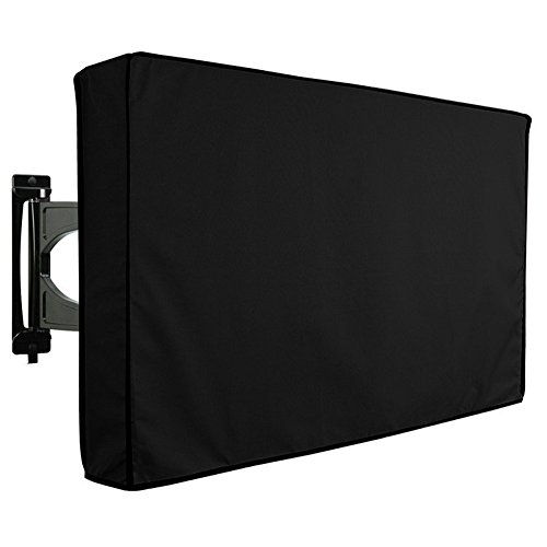Black 52' Lcd (Outdoor TV Cover Waterproof TV Cover Dustproof LCD LED Television Protector (50''-52''))