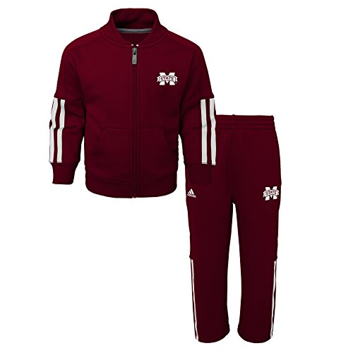 Outerstuff NCAA Mississippi State Bulldogs Children Boys Triumph performance Jacket & Pant Set, 3T, Classic Maroon
