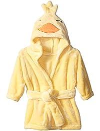 Soft Plush Bathrobe, Duck, 0-9 Months