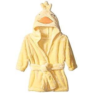 Hudson-Baby-Unisex-Baby-Plush-Animal-Face-Robe-Duck-One-Size-0-9-Months