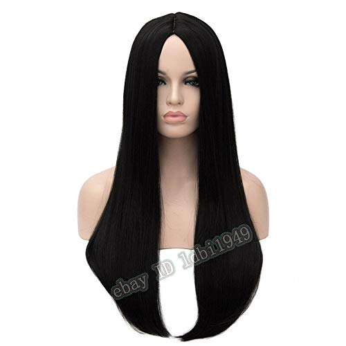 FidgetFidget Alice Madness Returns Wig Long Black Centre Parted Cosplay Wig for Women ()