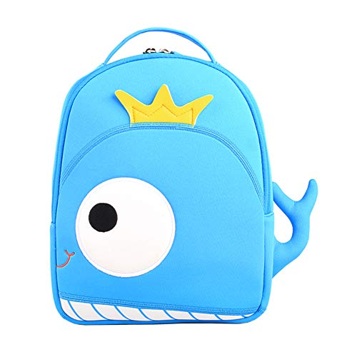 Eleanos Toddler Cat Backpack for Kindergarten Kids Waterproof Preschool Bag Cute Baby Bag with Ant-lost Leash Whale -