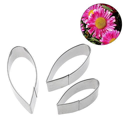 FIOLTY 3p/set Gerbera Flower Pet Met Fondant s DIY Baking Cupcake Decorating Tools Wedding Christmas Cake Mold