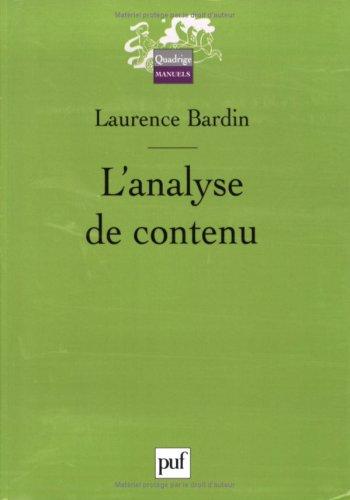 Analyse de contenu (L') [ancienne édition]