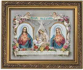 US Gifts Room Blessing Series House BlessingsPrint in Ornate Gold Finish Frame