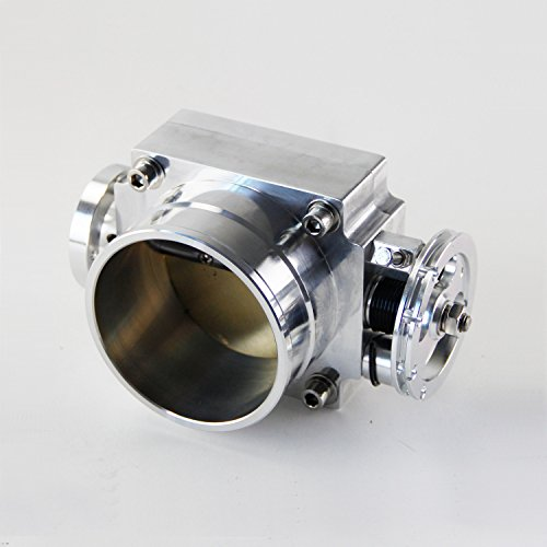 80mm Alloy Aluminum Universal CNC Billet Intake Throttle Body High Flow Silver Billet Aluminum Throttle Body
