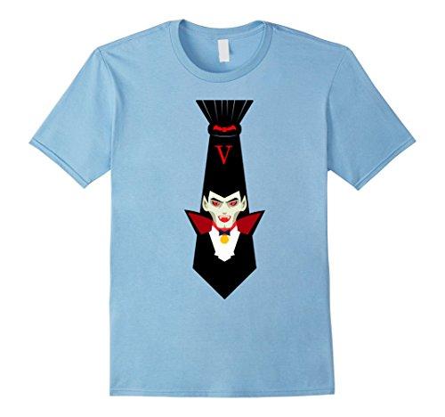 Mens Halloween Holiday Themed Tie Vampire Costume T-Shirt Medium Baby (Holiday Themed Costumes)