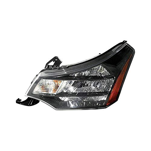 New Left Driver Side Head Light Assembly For 2009-2011 Ford Focus Black Chrome Trim FO2502269 9S4Z13008D