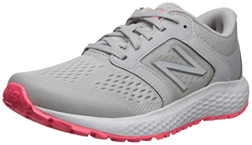 New Balance Women's 520v5 Cushioning Running Shoe, Summer Fog/Guava/Team Away Grey, 7 W US