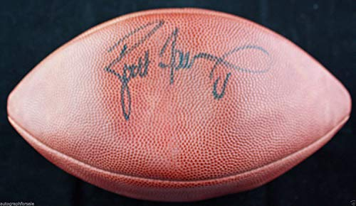 Brett Favre Autographed Signed Autograph Wilson NFL Game Model Football With JSA Authentic Certificate