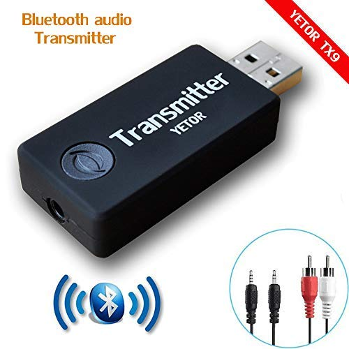 YETOR Bluetooth Transmitter for tv, 3.5mm Portable